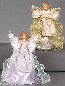 TRADITIONAL-SILVER-GOLD-FAIRY-ANGEL-CHRISTMAS-XMAS-TREE-TOPPER-DECORATION-20CM