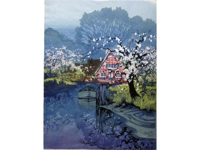 Oscar DROEGE (1898-1982) - Obstblüte im Alten Land (7)