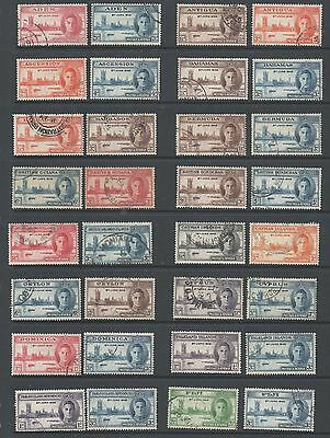 1946 Victory Omnibus Crown agents Houses of parliament set 82 fine used stamps