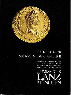 LANZ AUKTION  70 Katalog 1994  Münzen Kelten Griechen Römer Völkerwanderung ?70