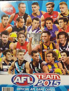 AFL 2015 teamcoach GOLD football cards - SALE singles team coach $1.00 each SALE