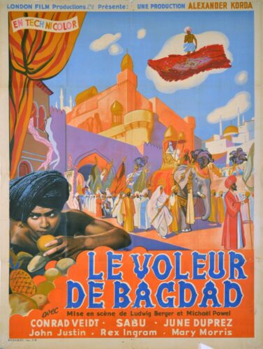 THE THIEF OF BAGDAD - ORIGINAL FRENCH POSTER - POWELL PRESSBURGER