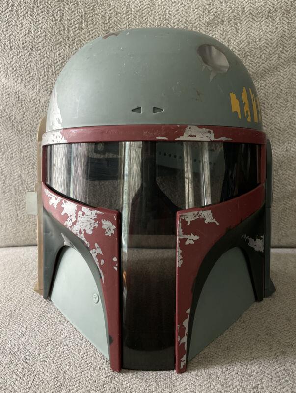 2009 Hasbro Star Wars Boba Fett Helmet Tested Mandalorian (No Antenna) WORKS!!