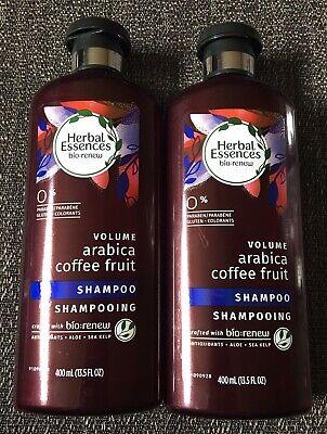 Clairol Herbal Essences Bio:Renew Arabica Coffee Fruit LOT OF 2 Shampoo 13.5 oz Clairol Herbal Essences Fruit