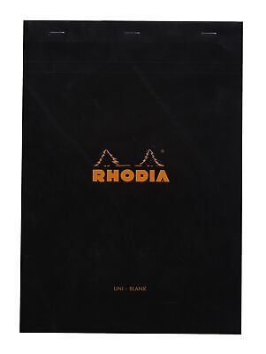 Rhodia Staplebound Notebook 8 14 X 11 34 Blank Black