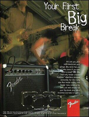 Fender 1997 Frontman Series 25R 15R 15G guitar amp ad amplifier advertisement comprar usado  Enviando para Brazil