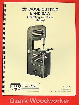 "WALKER-TURNER 1160-1150-1151 16/"" Band Saws Operator /& Parts Manual 0756"