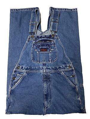 Vintage Overalls & Jumpsuits Five Brothers Denim Bib Overalls Mens 32 X 34 Blue Jean Carpenter Work Vintage  $19.99 AT vintagedancer.com