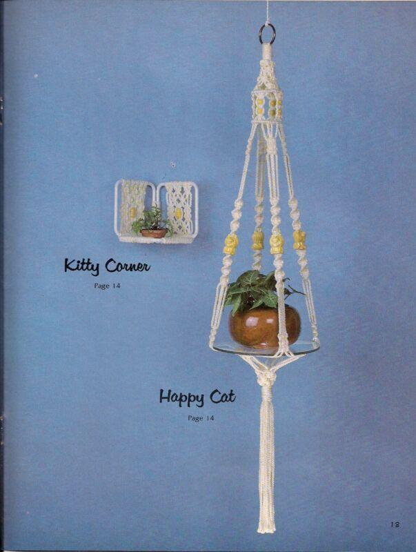 Macrame Plant Hanger & Shelf  - Craft Book: #GS15 Simply Elegant Home Decor