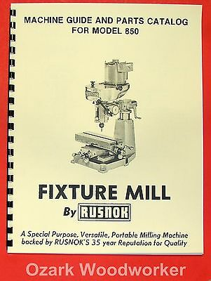 BARKER Horizontal Mill Model PM /& PMD Parts Manual /& Catalog 0056