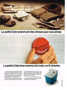 publicite advertising 1976 calor machine laver ebay. Black Bedroom Furniture Sets. Home Design Ideas