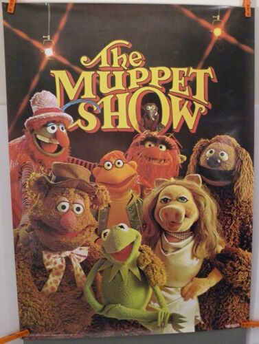 VINTAGE THE MUPPET SHOW POSTER SCANDECOR (1976) KERMIT MISS PIGGY ANIMAL FOZZIE