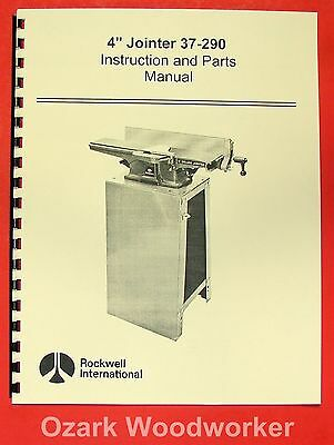 Rockwell 4 Jointer 37-290 Operating Parts Manual 0606