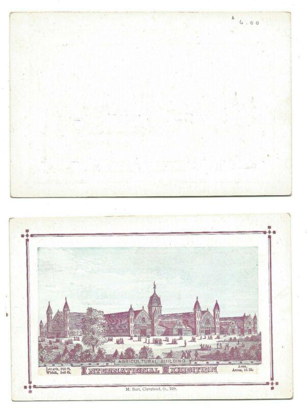 1876 International Expo - Agricultural Building Souvenir Postcard - Burt Co.  #7