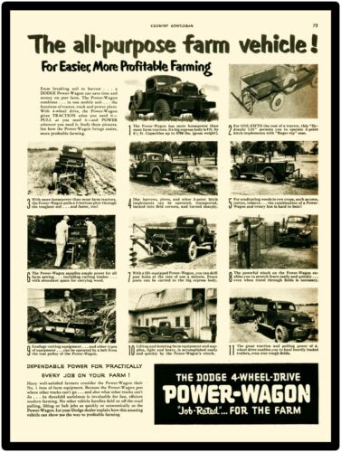 Dodge Power Wagon New Metal Sign: LARGE SIZE 12 X 16
