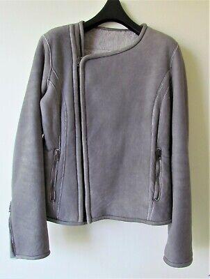 Salvatore SANTORO Italian designer GENUINE grey leather jacket