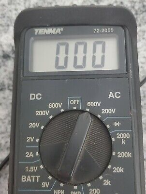Tenma Multimeter 72-2055- Digital- In Protective Rubber Case