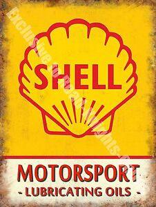 Vintage Garage Motor Racing Oil Petrol Old Advertising Small Metal/Tin Sign