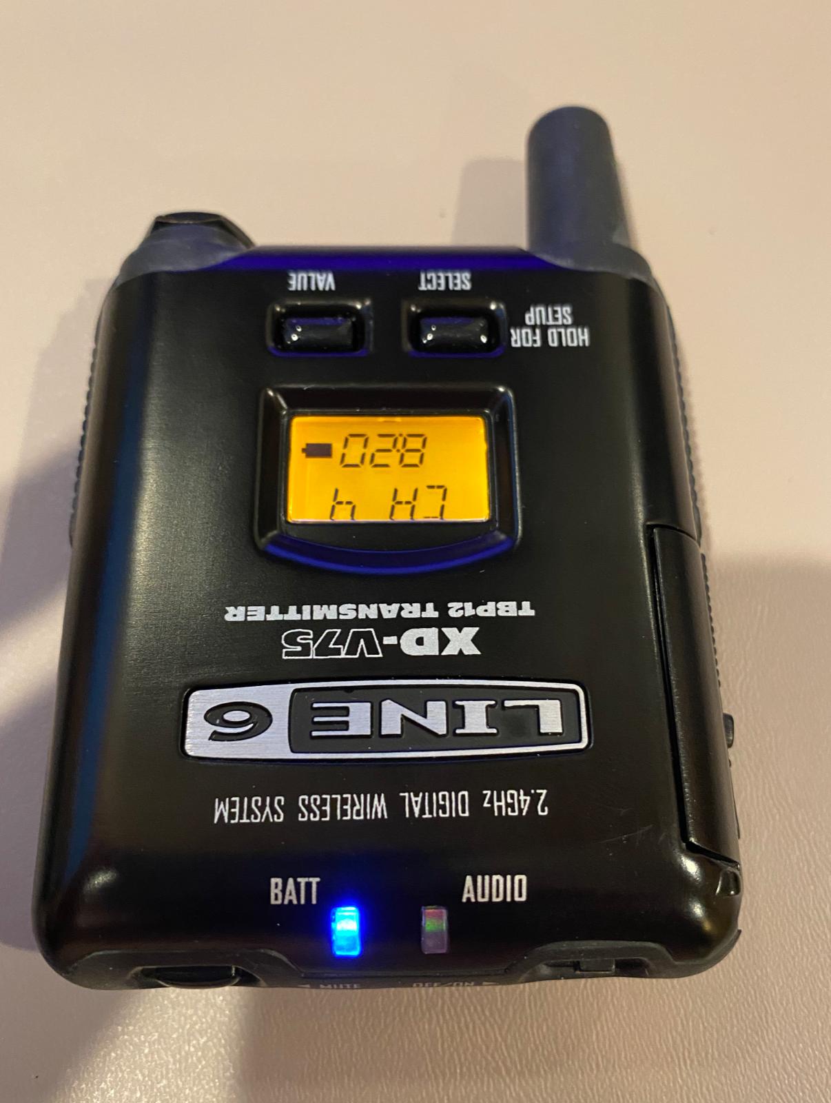 Line 6 V75-BP Bodypack Transmitter TBP12, 2 Mics And Cable - $180.00
