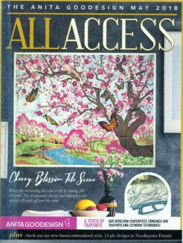All Access VIP MAY 2018 Anita Goodesign Machine Embroidery Designs CD