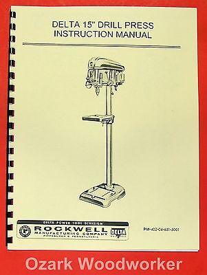 Rockwell-delta 15 Drill Press Dp-500 Operators Parts Manual 0633
