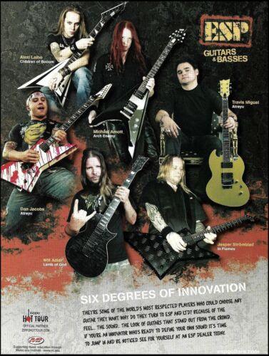 Alexi Laiho Atreyu Lamb of God Arch Enemy In Flames ESP Signature Guitars ad