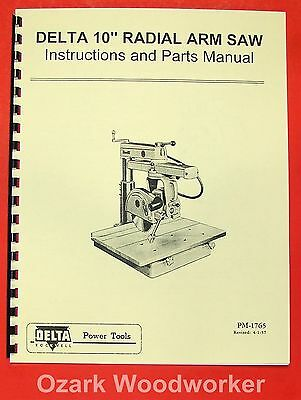 Rockwell-delta 10 Radial Arm Saw Owners Parts Manual 0802
