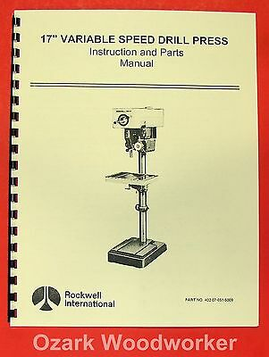 Rockwelldelta 17 Variable Speed Drill Press Manual 0627