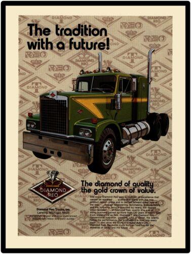 1972 Diamond Reo Trucks New Metal Sign: Lansing, Michigan