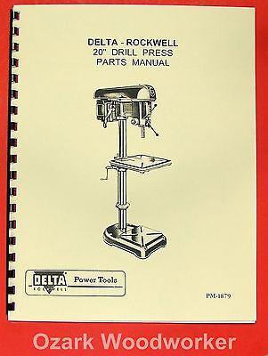 Rockwell-delta 20 Drill Press Operators Parts Manual 0641