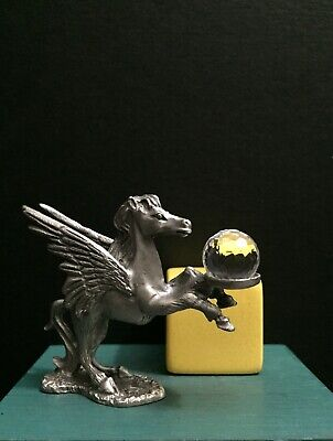 Spoontiques Pewter Metal Mobile Gas Pegasus Crystal Ball Miniature Art Figurine