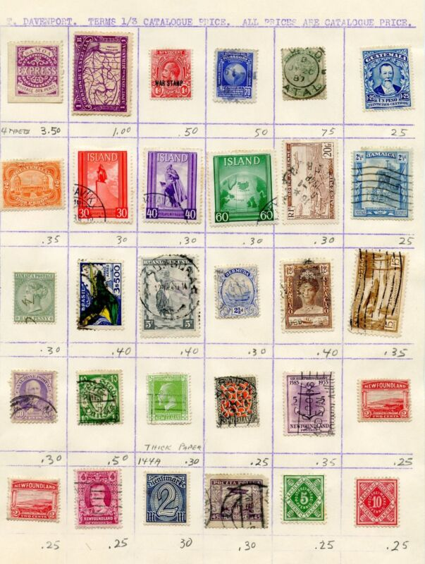 FRANCE & MISCELLANEOUS COUNTRIES  LOT W  OF MINT & USED STAMPS AS SHOWN