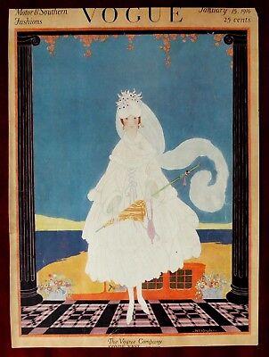 Vogue Magazine Original Cover Only ~ January 15, 1916 ~ Helen Dryden