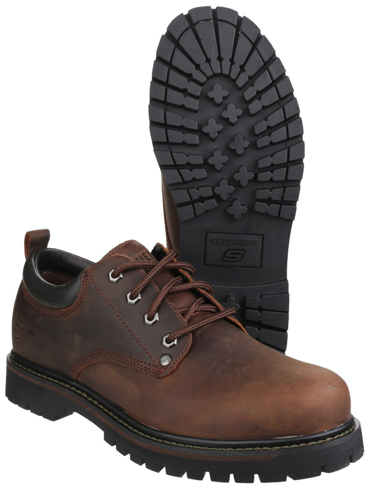 468375c81a9d7 Skechers Tom Cats Mens Casual Oxford Lace Up Work Shoes Boots UK6-12 ...