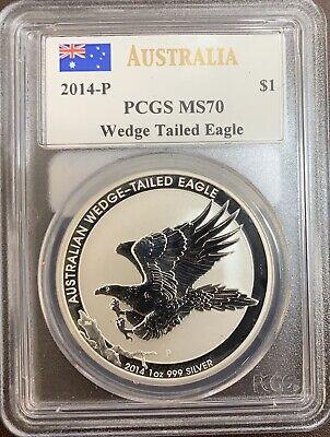 2014P Australia Wegde Tailed Eagle MS70 PCGS John M. Mercanti Signature