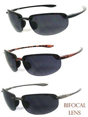 Rimless Bifocal Sunglasses Sport Sun Reader Reading Sunglasses Lightweight (Sport Reader Sunglasses)