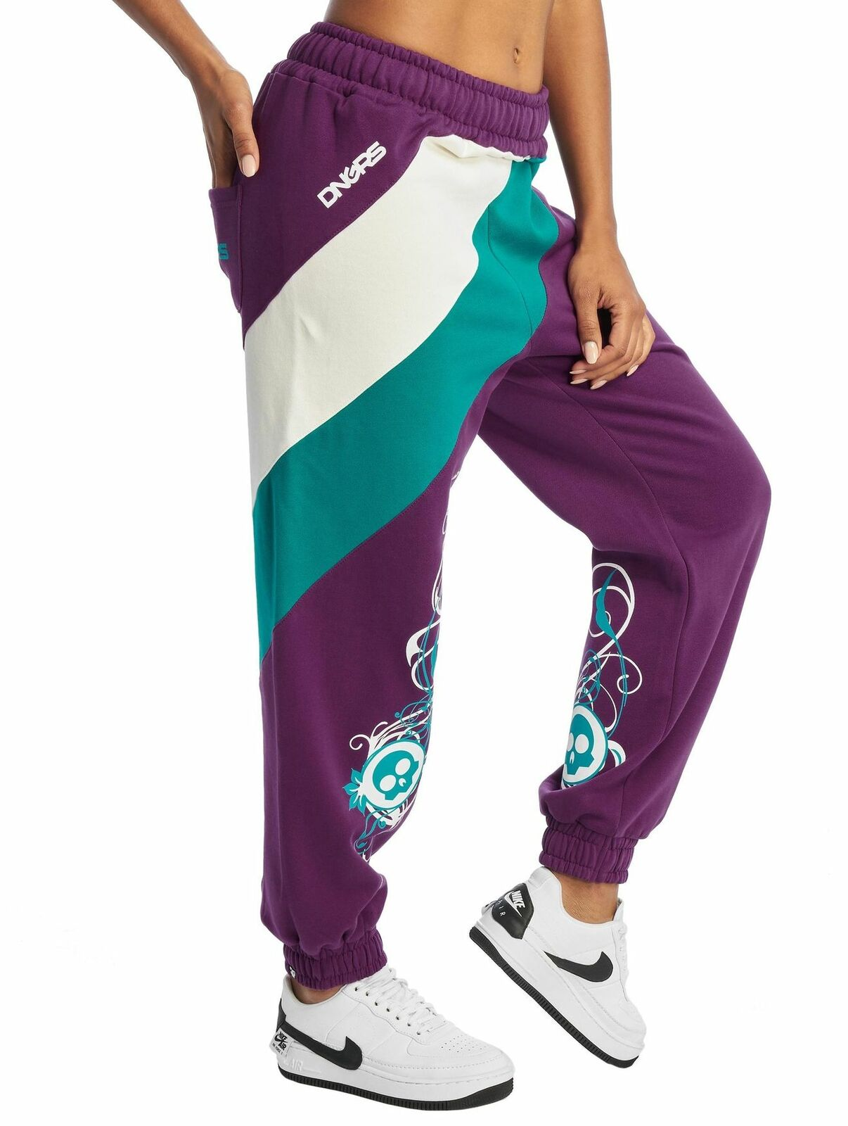 DNGRS Baggy Sweat Pants Damen Jogginghose Skull Sport Fitness Urban Jogger Hose