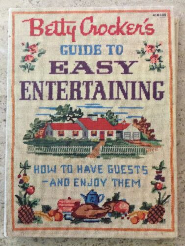 VINTAGE 1959 BETTY CROCKERS GUIDE TO EASY ENTERTAINING 1ST EDITION 1ST PRINTING