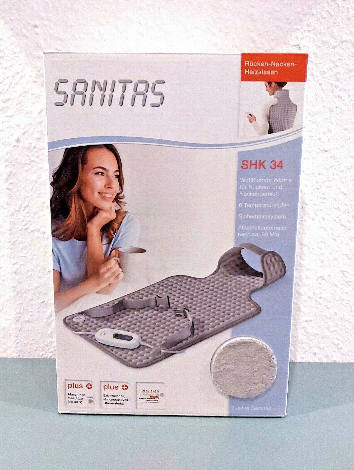 Sanitas SHK 34 Rücken-Nacken-Heizkissen Wärmegerät (Neu OVP)
