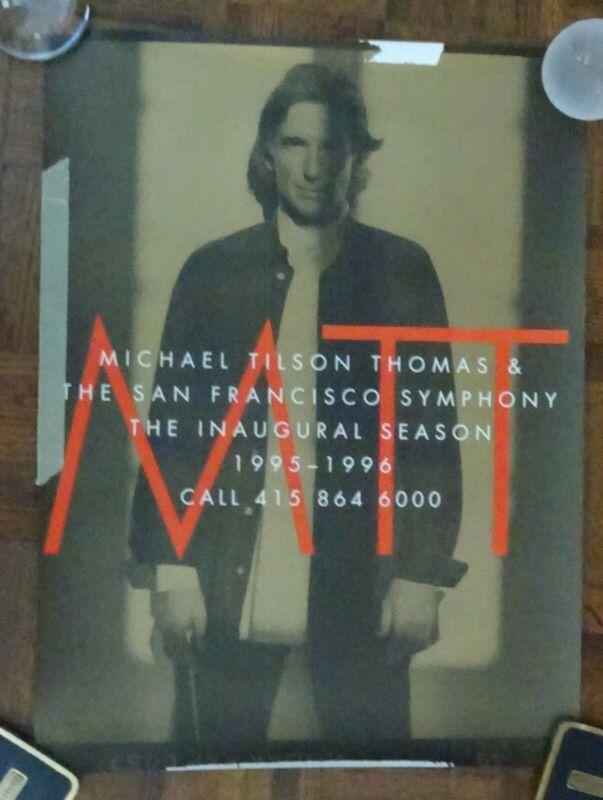 Michael Tilson Thomas autographed Inaugural Season SF Symphony 1995-96 poster