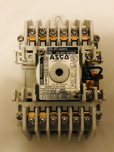 ASCO 917 12 Pole Latching Lighting Contactor 120 Volt Coil