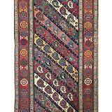 Magnificent Moharramati - 1900s Antique Shirvan Runner - Caucasian Rug - 3.5 x 9