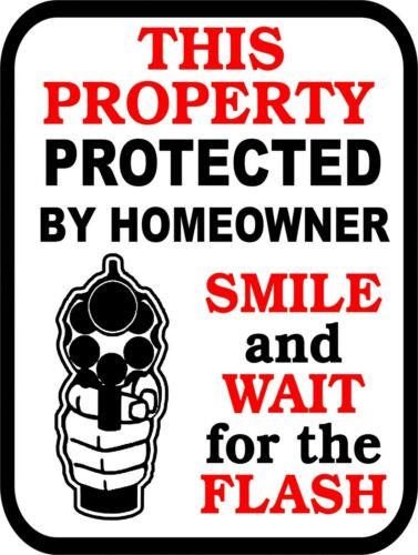 SECURITY Surveillance Signs Property Protected By Sign 24 Video Monitor