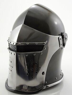 Medieval knight Roman Helmet~Barbute Armour Helmet with Inner Liner REPLICA LARP (Knight Helmets)