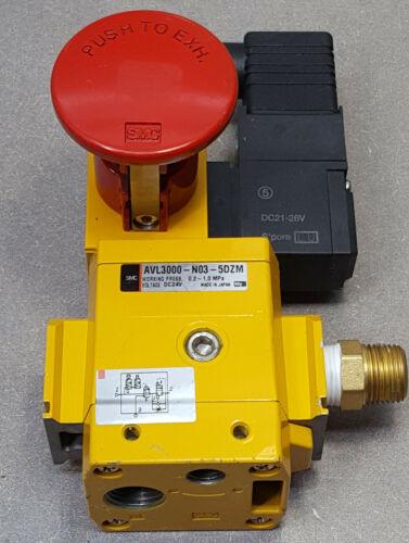 SMC AVL3000-03-5DZM valve, soft start w/lock-out, AVL SOFT START LOCK-OUT VALVE