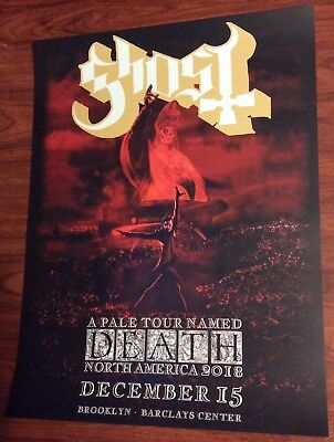 GHOST PALE TOUR NAMED DEATH EVENT POSTER BARCLAYS CENTER BROOKLYN NY 12/15  2018 (Ghost Death)