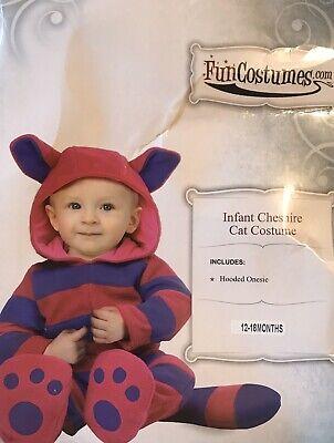 Chesire Cat Costume (Chesire Cat Halloween Costume 12-18 Months Alice In Wonderland Purple Pink)
