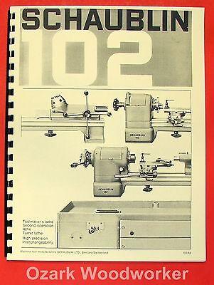Schaublin No. 102 Series Precision Metal Lathe Catalog Manual 0645