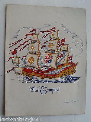 Souvenir Program For The Tempest By William Shakespeare 1945 Vera Zorina