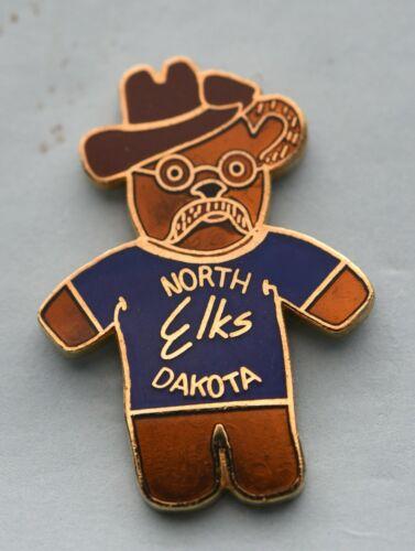 BPOE  NORTH DAKOTA STATE ELK  ASSOCIATION  PIN. VINTAGE TEDDY BEAR